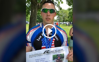 Officer honors Police Fitness with 250 mile bike ride.